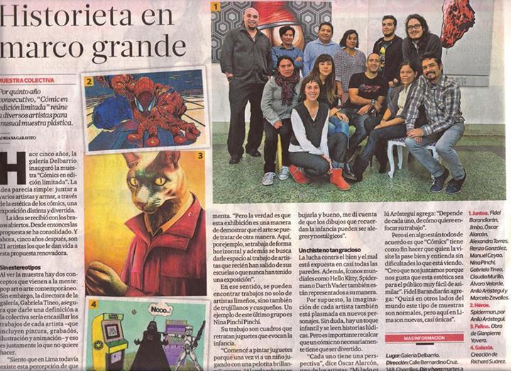 Expo Comics N°5 en el diario El Comercio