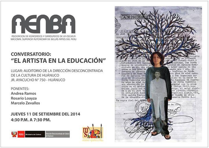 Conversatorio: El Artista en la Educación.
